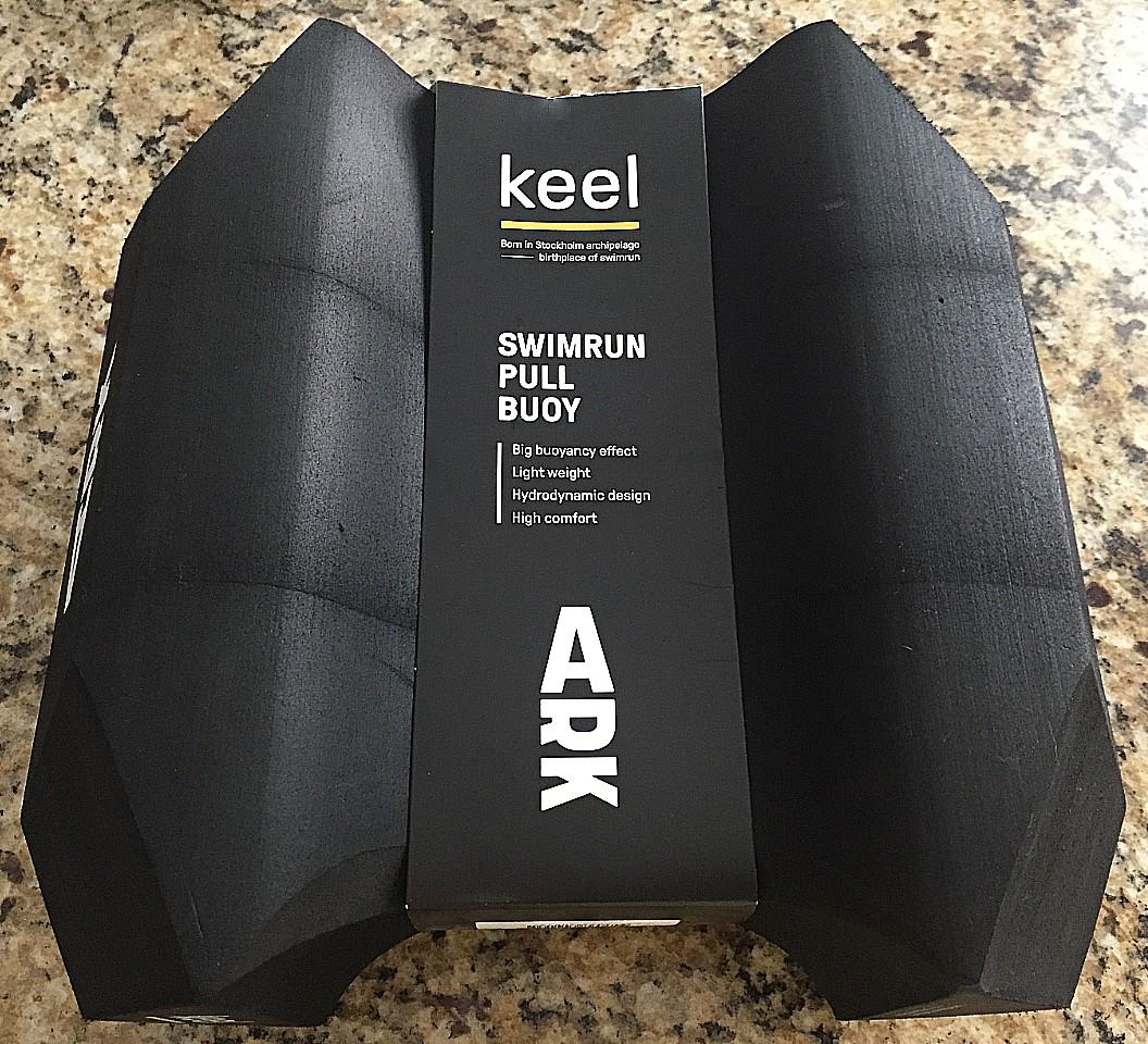 ARK Keel pull buoy in packaging