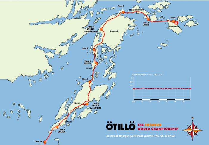 Map of OTILLO World Championship Course